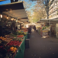 The open markets lining the Park Anvers